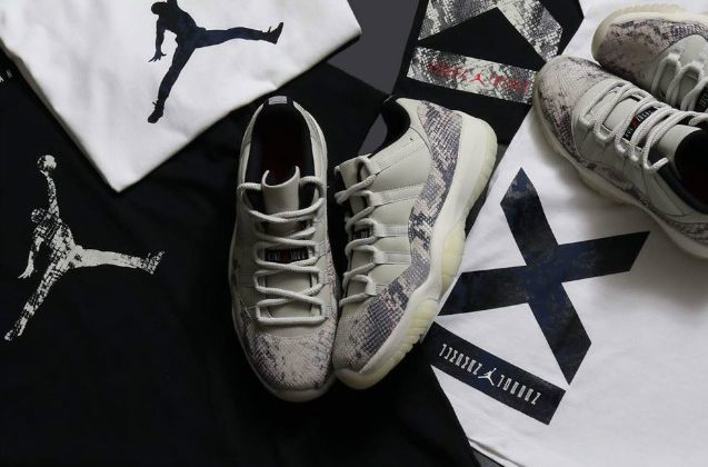 "Air Jordan 11 Low  ""Light Bone"" 白蛇配色,货号:CD6846-002 - 莆田鞋之家 0594sneaker.com"