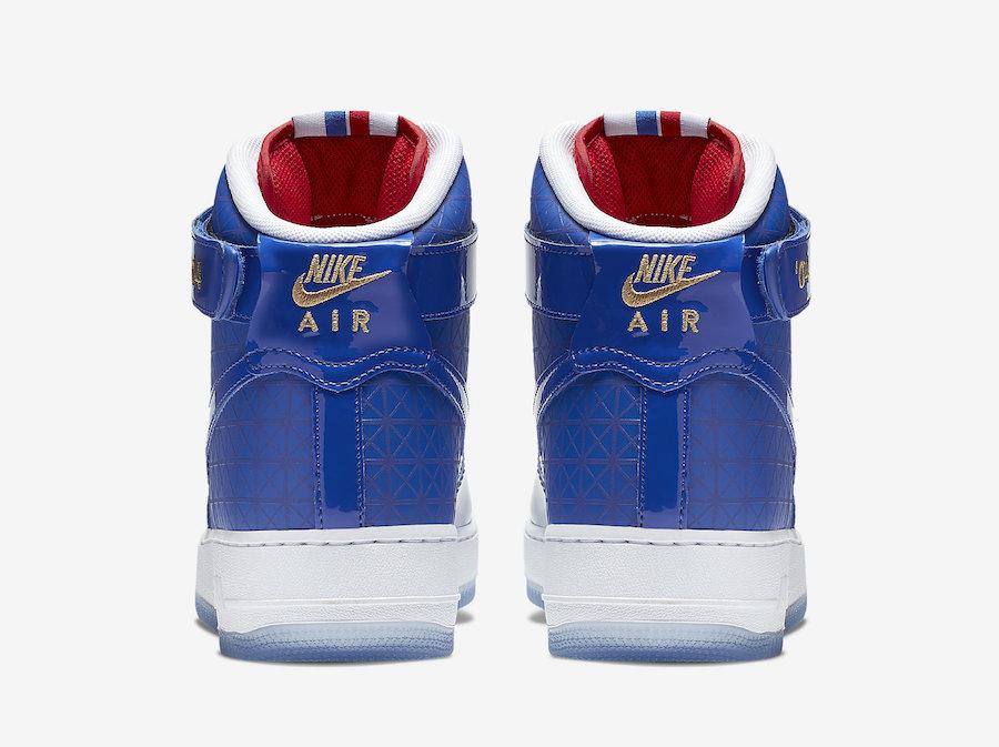Nike Air Force 1 High 货号: CI9880-400 NBA 活塞队总冠军主题配色 | 球鞋之家0594sneaker.com