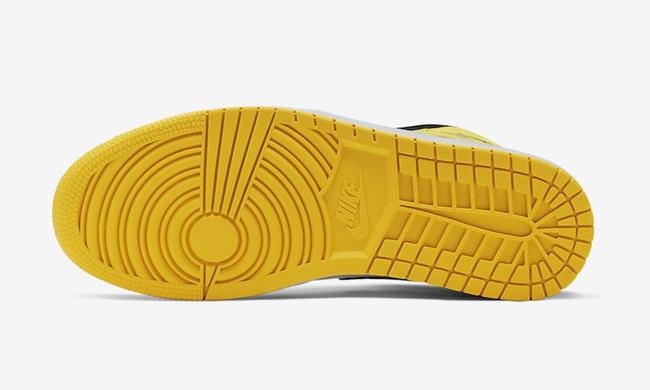 "Air Jordan 1 Mid SE ""Yellow Toe"" 黑黄脚趾,货号:852542-071 - 莆田鞋之家 0594sneaker.com"