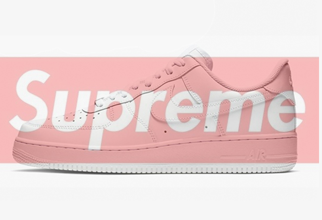 Supreme x Nike Air Force 1 Low 货号:CU9225-100、CU9225-001
