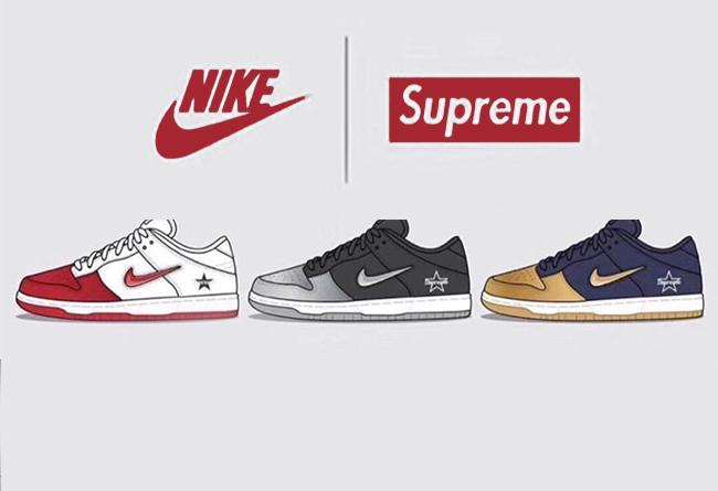 Supreme x Nike SB Dunk Low 货号:CK3480-001/CK3480-600/CK3480-700