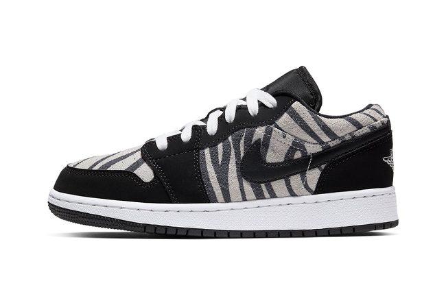 "Air Jordan 1 Low GS ""Zebra"" 乔一低帮斑马纹,货号:553560-057 | 球鞋之家0594sneaker.com"