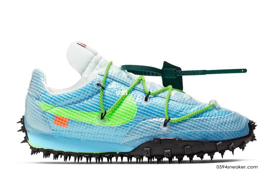 OFF-WHITE x Nike Waffle Racer 货号:CD8180-001、CD8180-100、CD8180-400