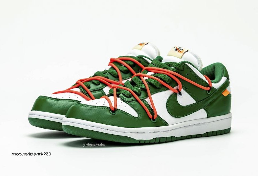 OFF-WHITE,Nike,Dunk Low,CT0856  醒目配色!OFF-WHITE x Nike Dunk Low 灰红实物图释出!