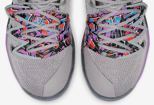 """欧文5代涂鸦 Nike Kyrie 5 GS """"Graffiti"""" 货号:AQ2458-001   球鞋之家0594sneaker.com"""
