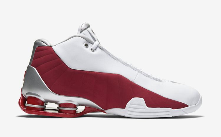 Nike Shox BB4 '卡特'红白配色,货号:AT7843-101 | 球鞋之家0594sneaker.com