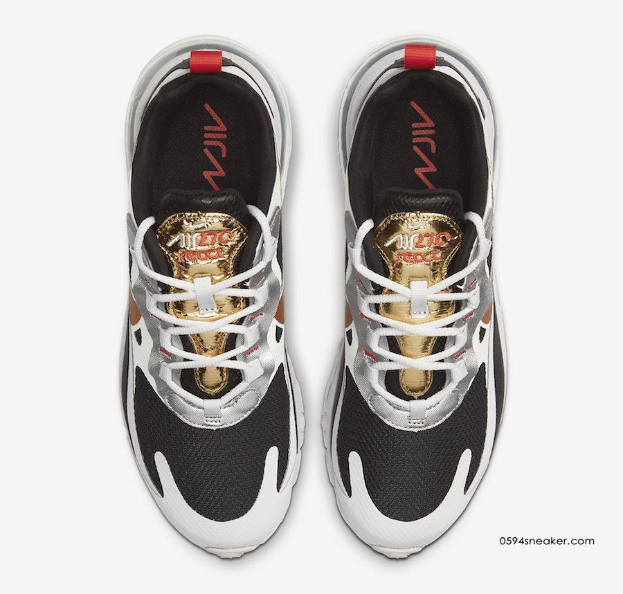 Nike Air Max 270 React 黑金配色,货号:CT3433-001 | 球鞋之家0594sneaker.com