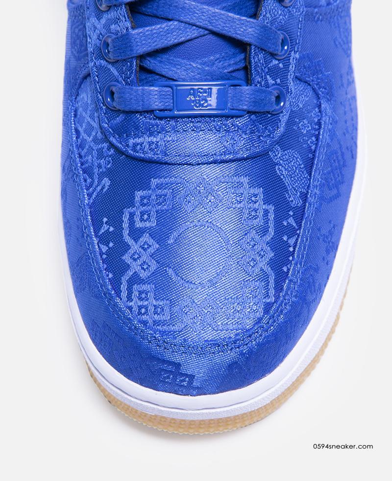 CLOT x Nike Air Force 1 蓝丝绸 货号:CJ5290-400 | 球鞋之家0594sneaker.com