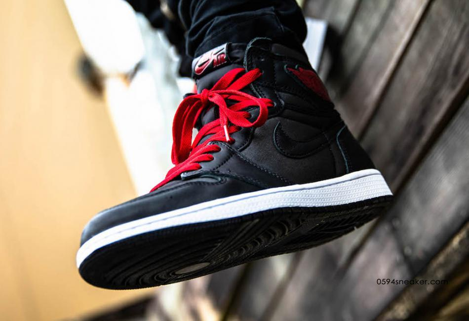 "Air Jordan 1 ""Black Satin"" 黑丝绸,货号:555088-060   球鞋之家0594sneaker.com"