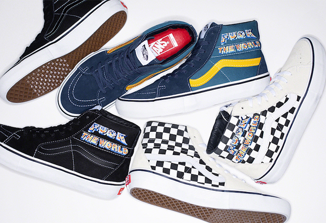 "Supreme x Vans Sk8-Hi ""Fuck The World"" 万斯联名Supreme新品系列 