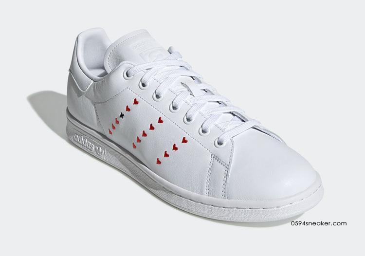 "adidas Stan Smith ""Heart Stripe"" 货号:EG5810 / EG5811   球鞋之家0594sneaker.com"