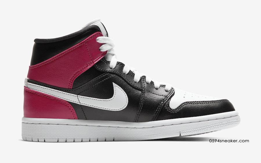 黑脚趾 + 经典黑白红 Air Jordan 1 Mid WMNS 货号:BQ6472-016 | 球鞋之家0594sneaker.com