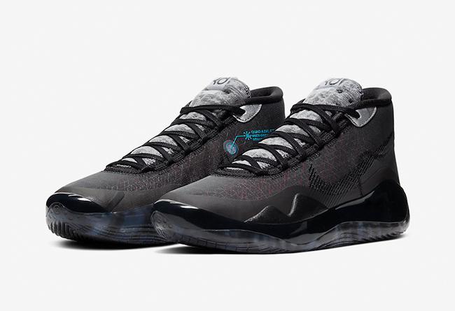 "杜兰特12代新品 Nike KD 12 ""Anthracite"" 货号:AR4229-003"