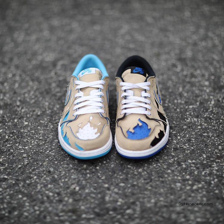 Nike SB x Air Jordan 1 Low 货号:CJ7891-200 | 球鞋之家0594sneaker.com