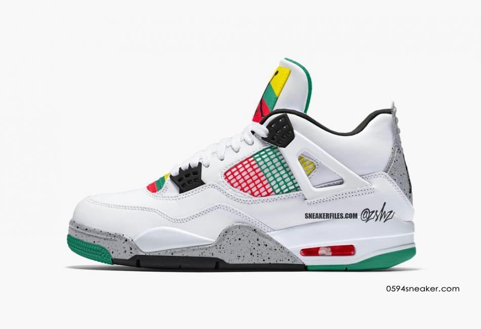 """Gucci 配色 Air Jordan 4 """"Do The Right Thing"""" 货号:AQ9129-100"""