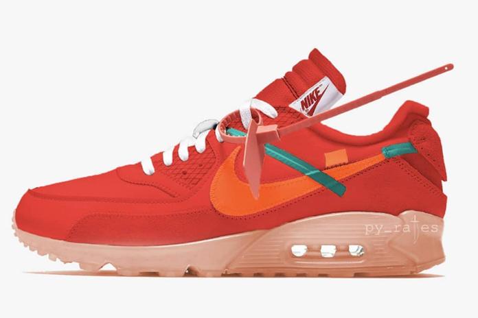 University Red 配色 OFF-WHITE x Nike Air Max 90 货号:AA7293-600