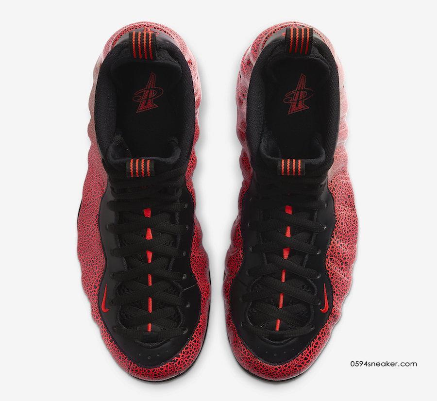 "黑红熔岩喷泡 Nike Air Foamposite One ""Lava"" 货号:314996-014"