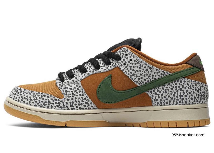 "atmos 气质满满,Nike SB Dunk Low ""Safari"" 货号:CD2563-002   球鞋之家0594sneaker.com"