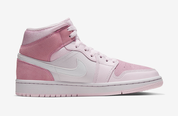 "Air Jordan 1 Mid WMNS ""Digital Pink"" 货号:CW5379-600"