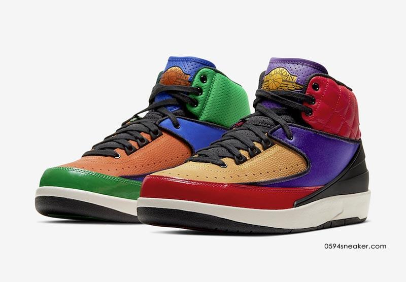 "Air Jordan 2 WMNS ""Multicolor"" 鸳鸯 AJ,货号:CT6244-600"