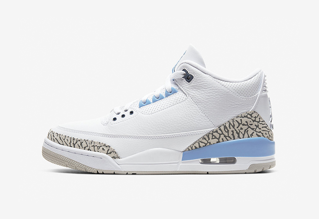 """致敬北卡大学 Air Jordan 3 """"Valor Blue"""" 货号:CT8532-104 北卡配色发布"""