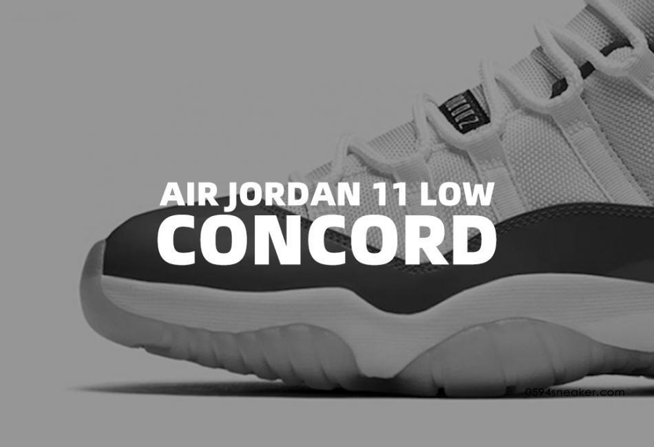 """蓝扣 Air Jordan 11 Low WMNS """"Concord"""" 货号:AH7860-100"""