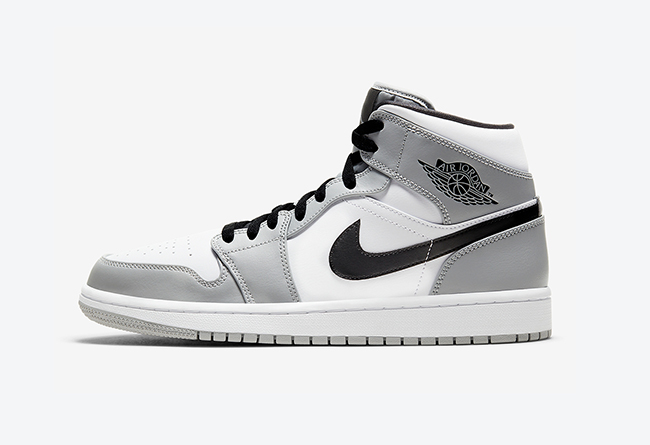 "Air Jordan 1 Mid ""Light Smoke Grey"" 货号:554724-092"