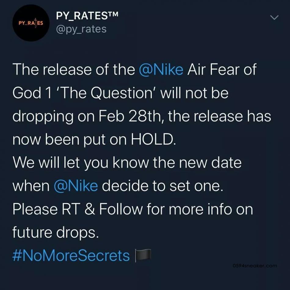 """FOG 发布亲友限定系列 Fear of God x Nike Air Raid """"Friends & Family"""""""