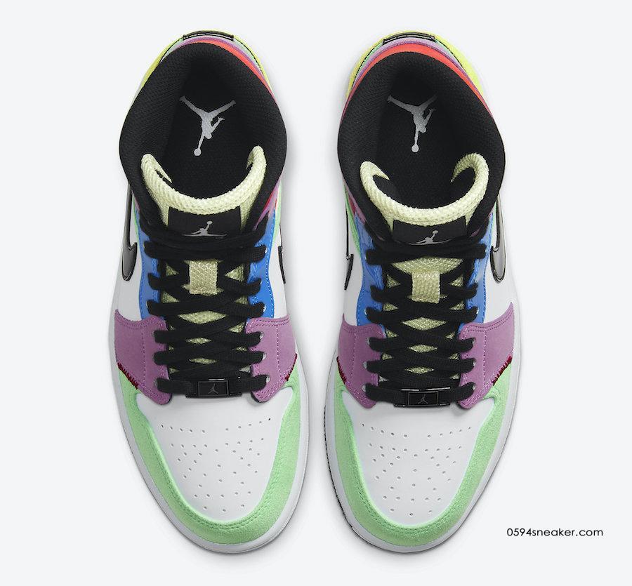 "Air Jordan 1 Mid ""Multicolor"" 货号:CW1140-100"