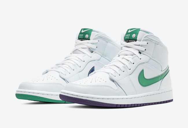 "Air Jordan 1 Mid SE ""Nike Hoops"" 货号:CW5853-100"