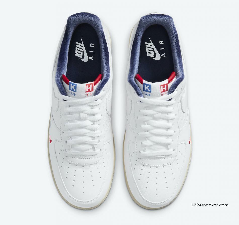 "KITH x Nike Air Force 1 ""France"" 货号:CZ7927-100"