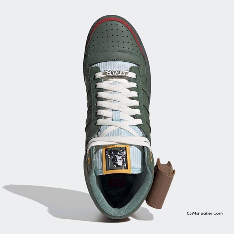 """星球大战联名 Star Wars x adidas Originals Top Ten Hi """"Boba Fett"""" 货号:FZ3465"""