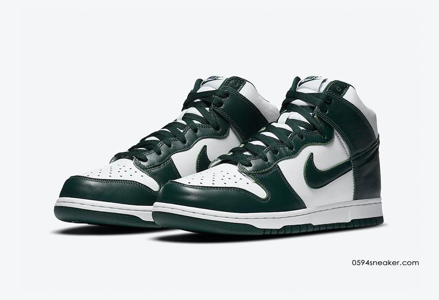 "Nike Dunk High ""Spartan Green"" 货号:CZ8149-100"