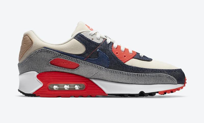 "DENHAMx Nike Air Max 90 ""Infrared"" 货号:CU1646-400"