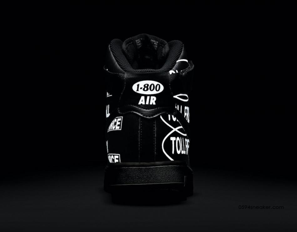 "Nike Air Force 1 High '07 Premium ""Toll Free"" 货号:CU1414-001"