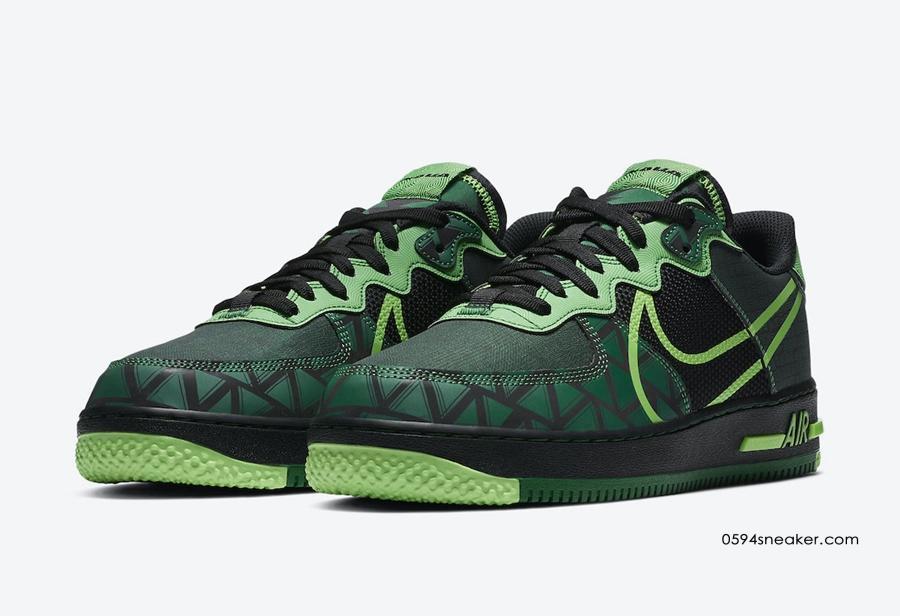 "Nike Air Force 1 React ""Naija"" 货号:CW3918-001"