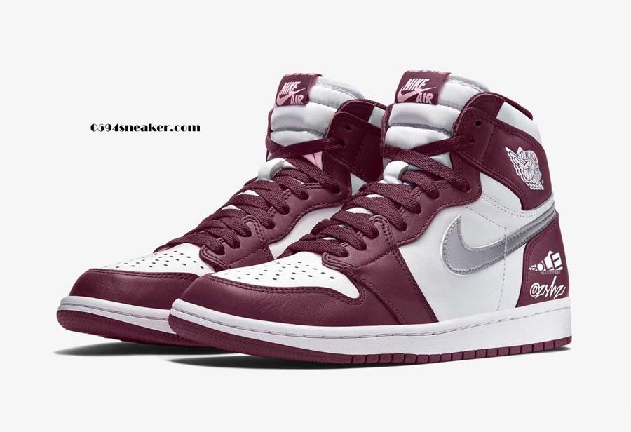"""酒红配色 Air Jordan 1 High OG """"Bordeaux"""" 货号:555088-611"""