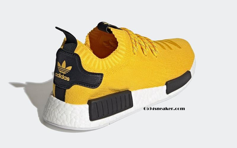 "adidas NMD R1 Primeknit ""EQT Yellow"" 货号:S23749"