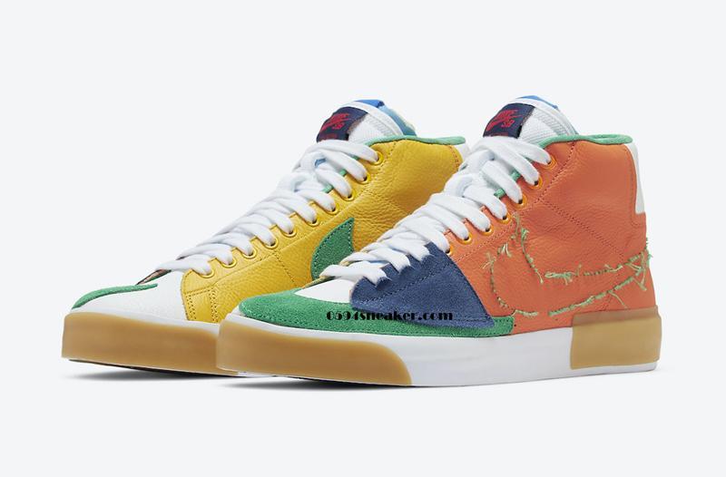 "Nike SB Blazer Mid Edge ""Multi-Color"" 货号: DA2189-800"