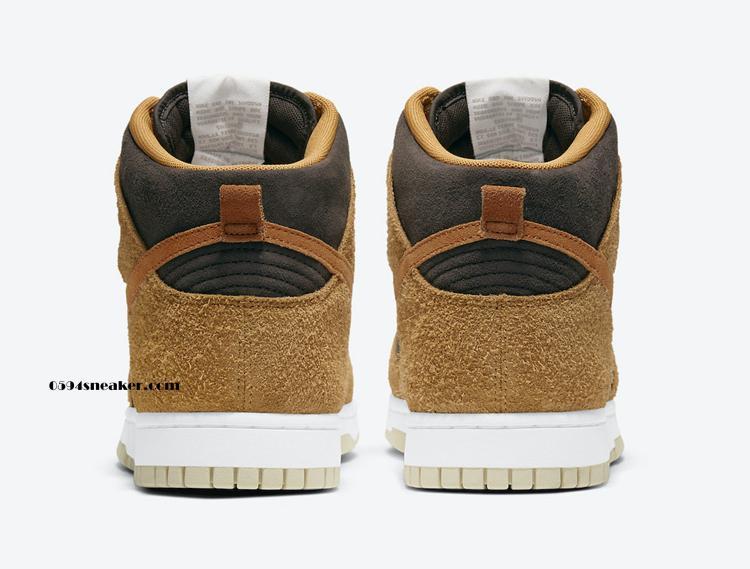 """小麦配色高帮鞋款 Nike Dunk High """"Dark Curry"""" 货号:DD1401-200"""