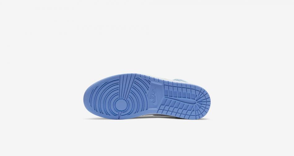 """今年第一双北卡来了,Air Jordan 1 High """"University Blue"""" 货号:555088-134"""