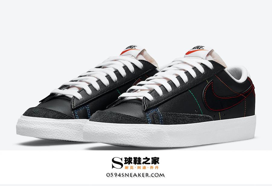 """Blazer Low 彩虹车线 Nike Blazer Low """"Multi Stitch"""" 货号:DJ6000-001"""